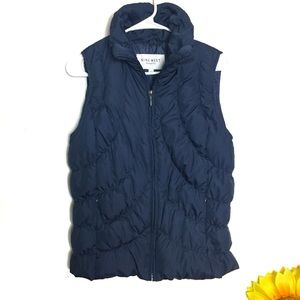 Nine West Down Blue Puffer Vest Size Small